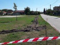 Verejné priestranstvo - realizácia závlahy parku F. Gála, Vrakúň 2017